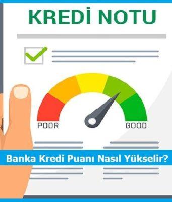 banka kredi puani nasil yukselir