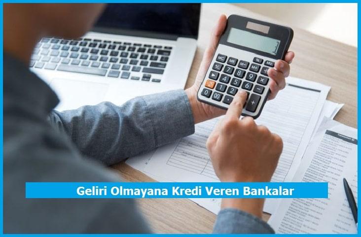 Geliri Olmayana Kredi Veren Bankalar