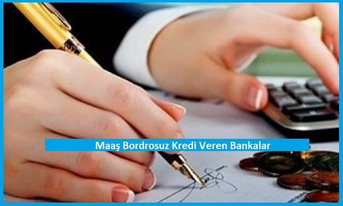 Maaş Bordrosuz Kredi Veren Bankalar