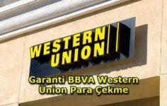 Garanti BBVA Western Union Para Çekme