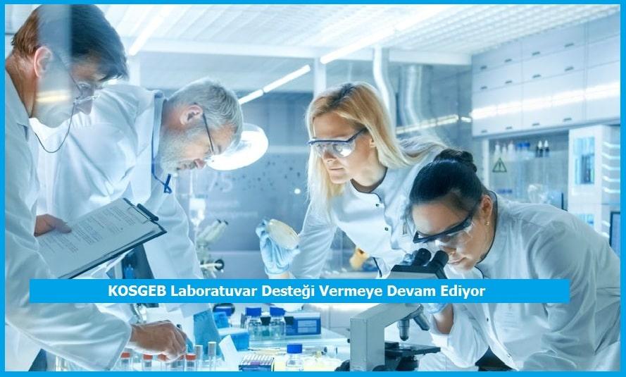 KOSGEB Laboratuvar Desteği Vermeye Devam Ediyor