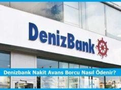 denizbank nakit avans borcu nedir